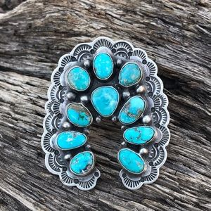 Navajo Sterling Silver Royston Turquoise Ring Sz 9